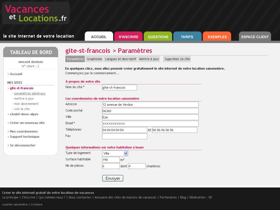 Calendrier Pour Location Saisonniere.Creation Du Site Internet De Ma Location Saisonniere